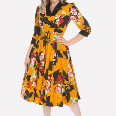 Vestido swing Autumn Floral