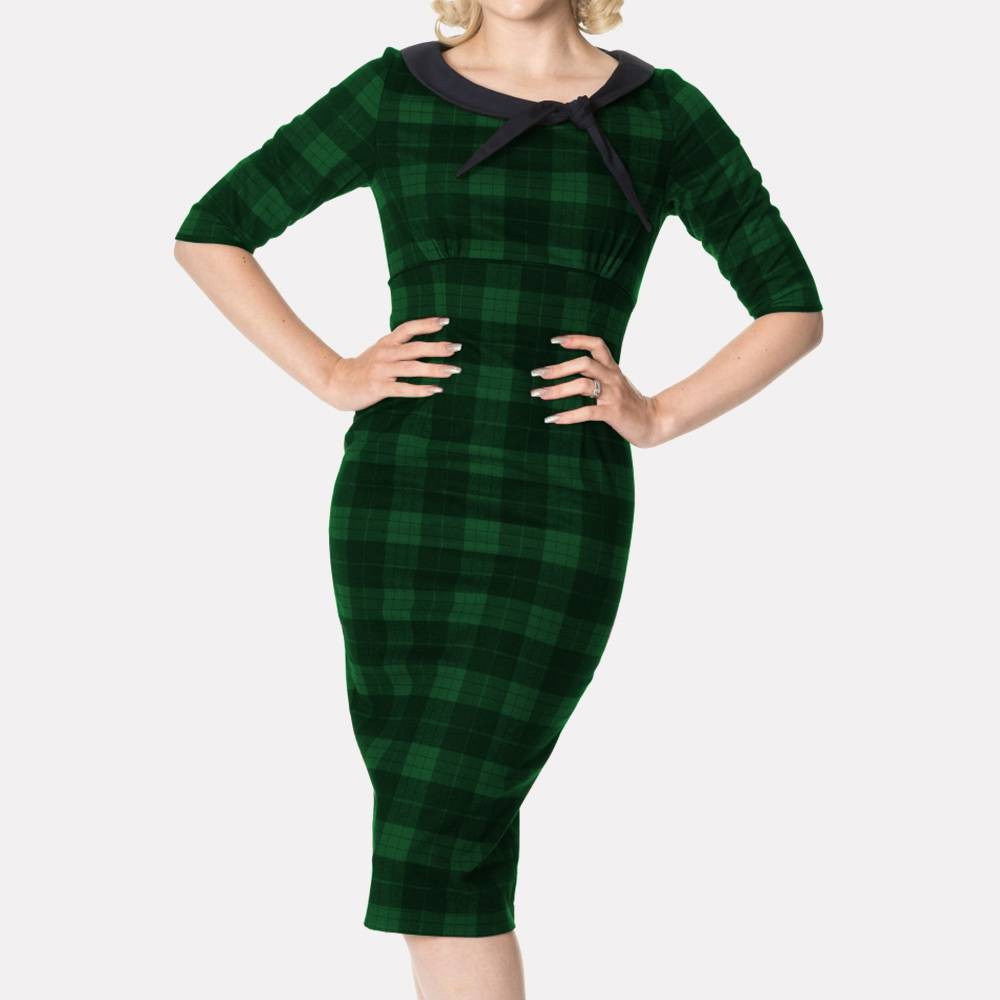 Vestido de tubo Take me to Paris en verde