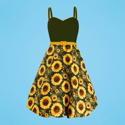 Vestido Carmen Sunflower fields forever