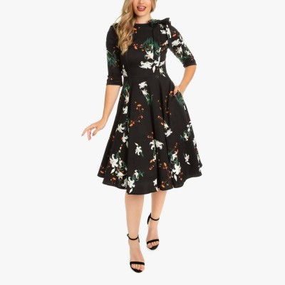 Vestido swing Diana Lilly Floral