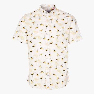 Camisa Johan Exotic Flamingos