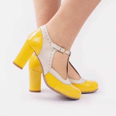 Ada yellow patent leather