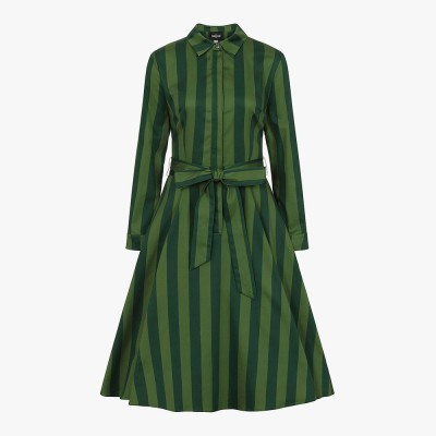 Mara Garden Stripes Swing Dress