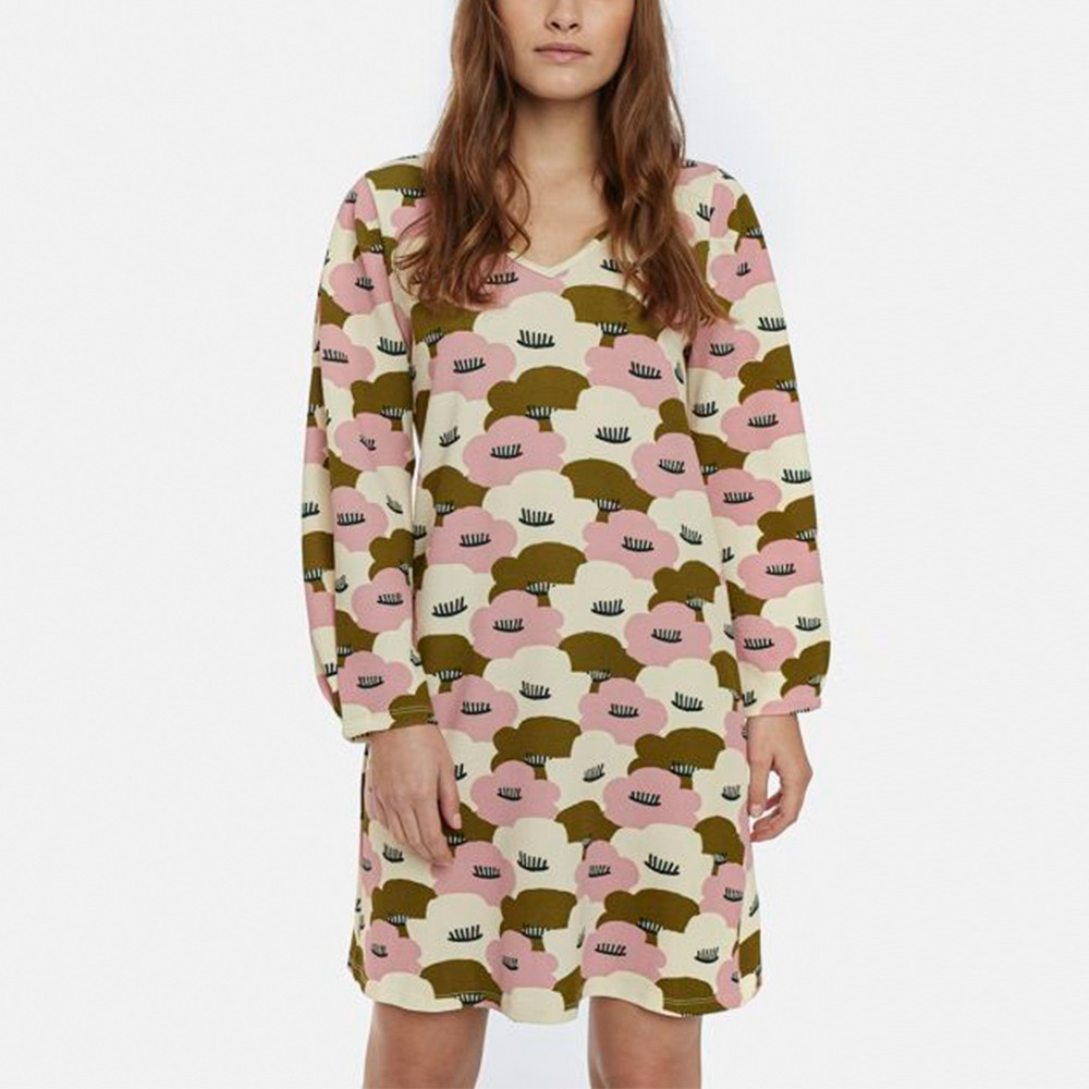 Large water lilies flared dress