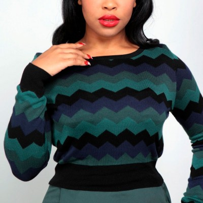 Machi Zigzag Knitted Top
