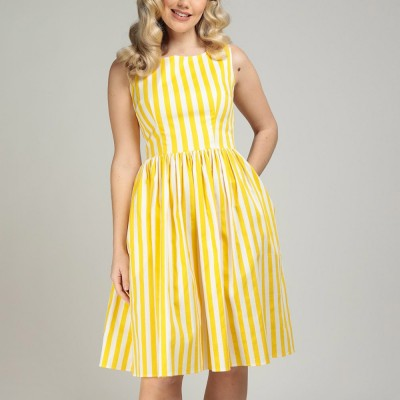 Candice Striped Swing Dress