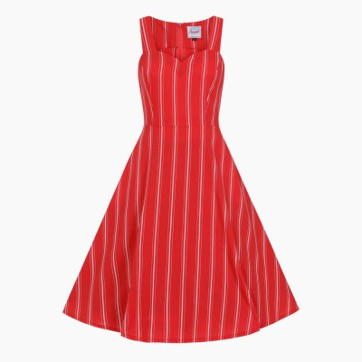 Sailor Stripe Fit & Flare Dress