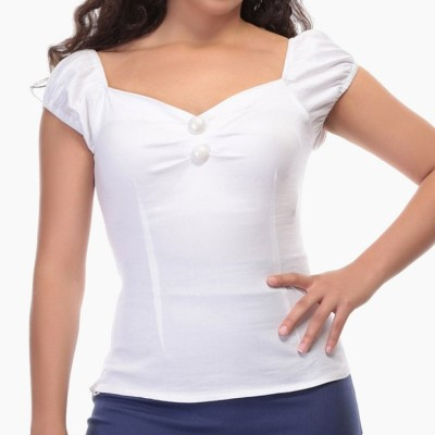Top liso Dolores en blanco