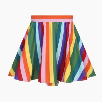 Rainbow Stripes Skater Skirted Brief