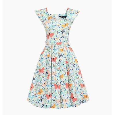 Spring Time Bloom Swing Dress
