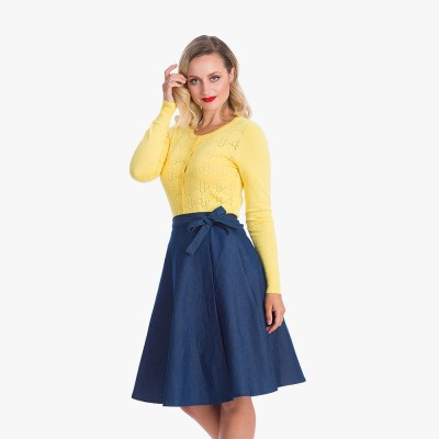 Ellen 50's Skirt in Navy